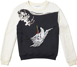 BIRD APPLIQUE LONG SLEEVE TOP