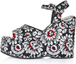 Topshop Wallflower Print Wedges