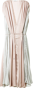 Tome Satin Pleated Dress