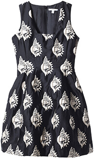 Carven Shell Jacquard Dress