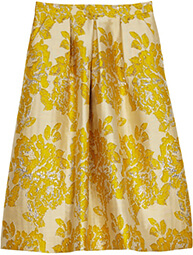 ASOS Golden Jacquard Skirt