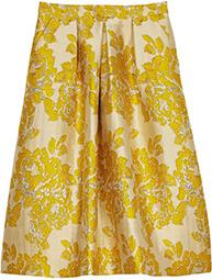 ASOS Golden Jacquard Skirt