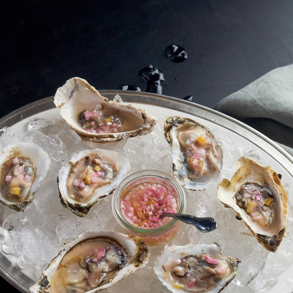 Oysters and Preserved Lemon Mignonette