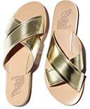 Ancient Greek Sandals Thais in Platinum