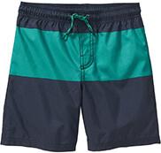 Boys Colorblock Swim Trunks