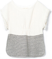 Girls Fringed Sleeve Poncho