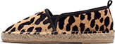 Animal Print Fur Espadrilles