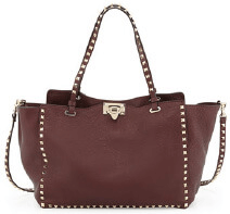 Valentino Rockstud Grained Tote Bag