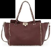 Valentino Rockstud Grained Tote Bag