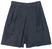 3x1 high-rise gaucho short