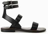 Mango Strap Leather Sandals