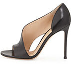 Gianvito Rossi Leather Open-Side Sandal