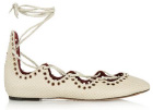 Isabel Marant Leo snake- effect leather ballet flats