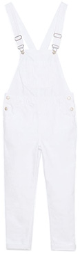 Zara White denim dungarees