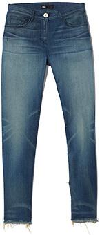 3X1 Denim Jeans MID-RISE CROP FRAY SKINNY