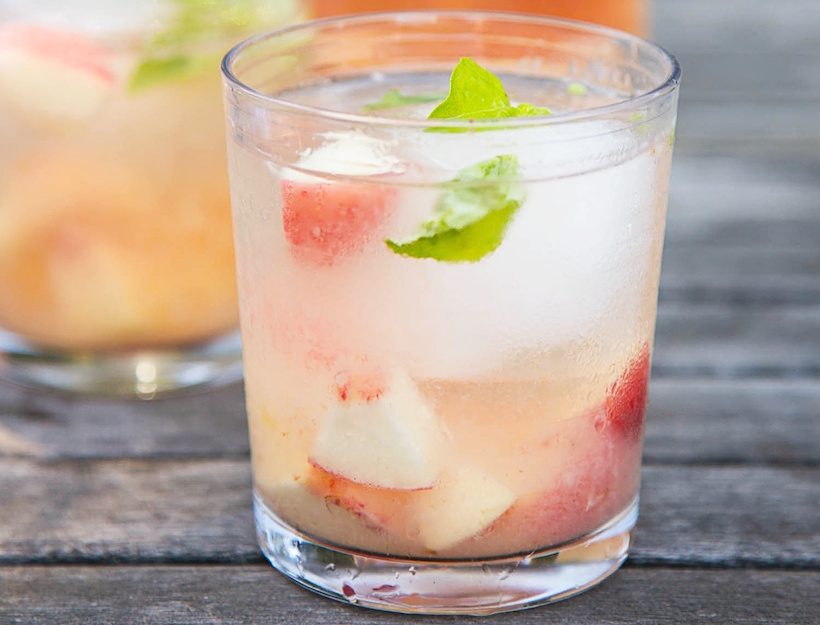 Rosé and White Peach Sangria