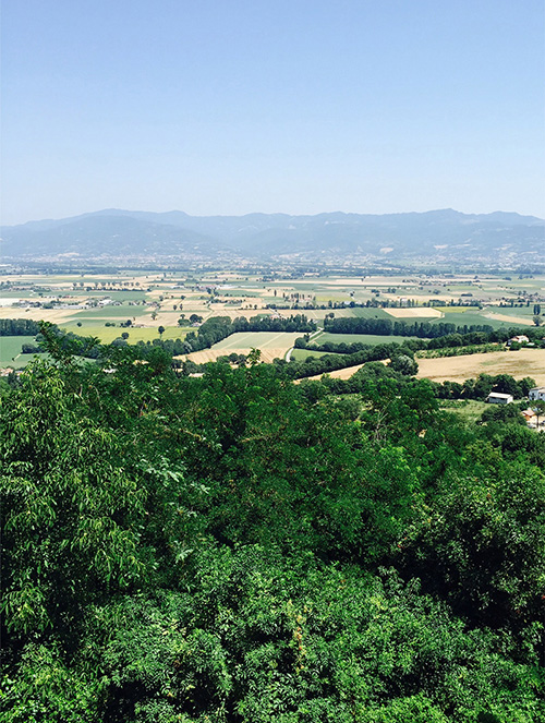 A view from Citerna, a stunning, walled medieval village.