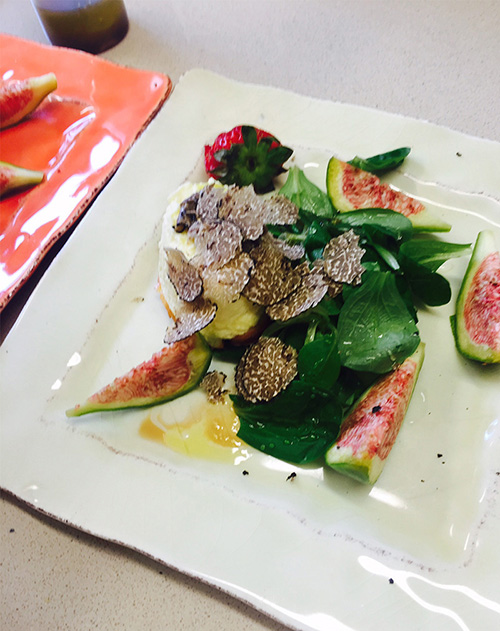 A fig and truffle salad.