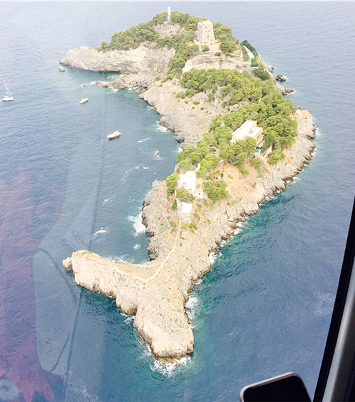 One of the Li Galli islands, which looks like a dolphin.