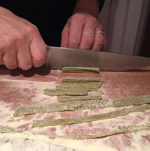 Pasta making class.