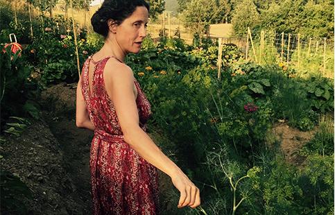 Countess in her garden