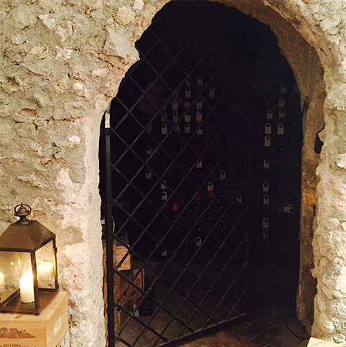 Wine cave at Rossellini's