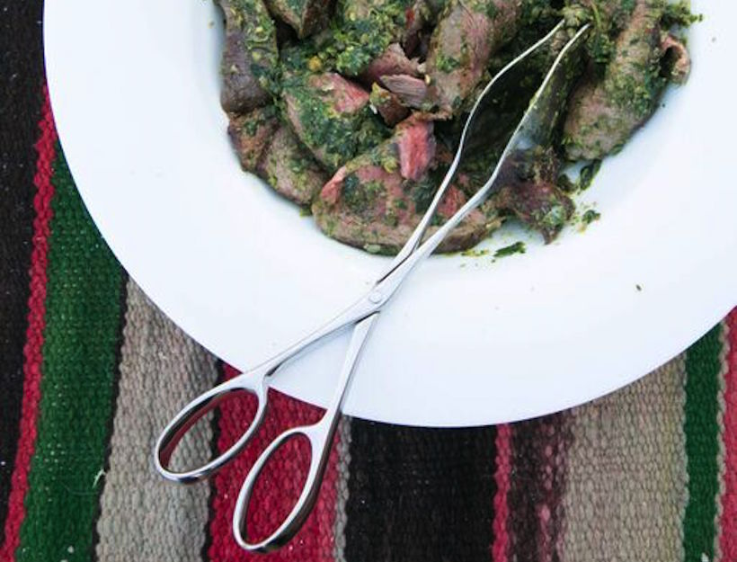 Boneless Leg of Lamb with Garlic, Rosemary and Salsa Verde