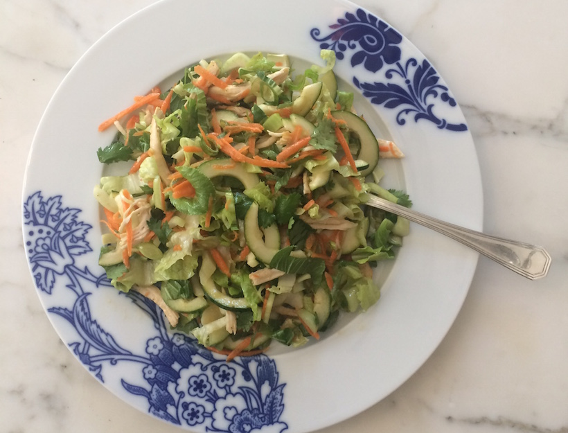 Asian Chicken Salad with Miso Dressing