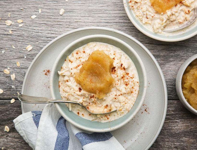 Bircher Muesli with Spiced Caramel Apple Jam