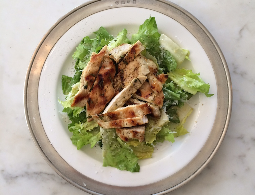 Escarole Caesar Salad with Grilled Chicken