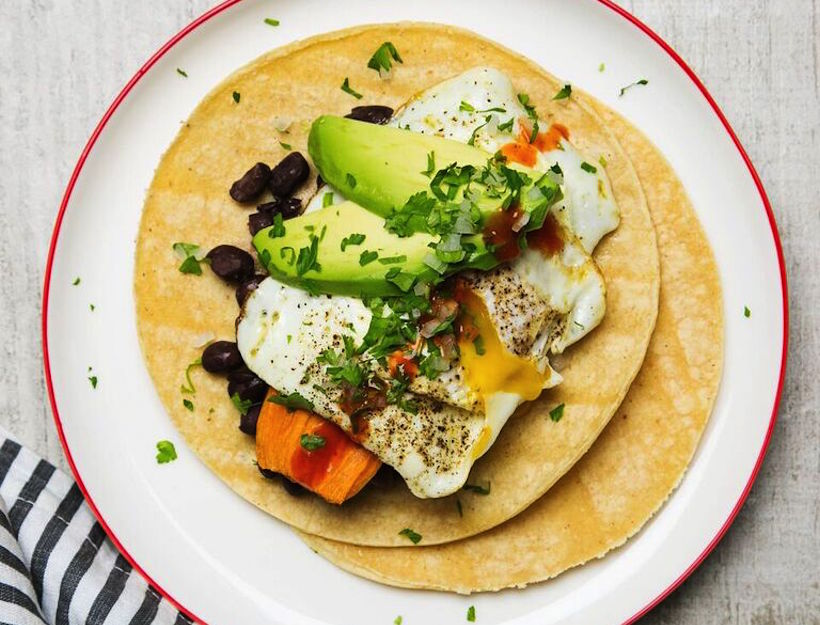 Sweet Potato & Egg Tacos