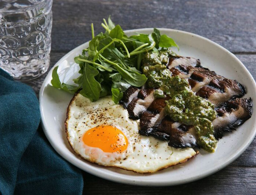 "Vegetarian ""Steak & Eggs"" 
