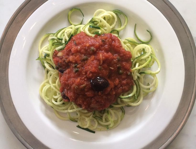 Zucchini Noodles alla Puttanesca