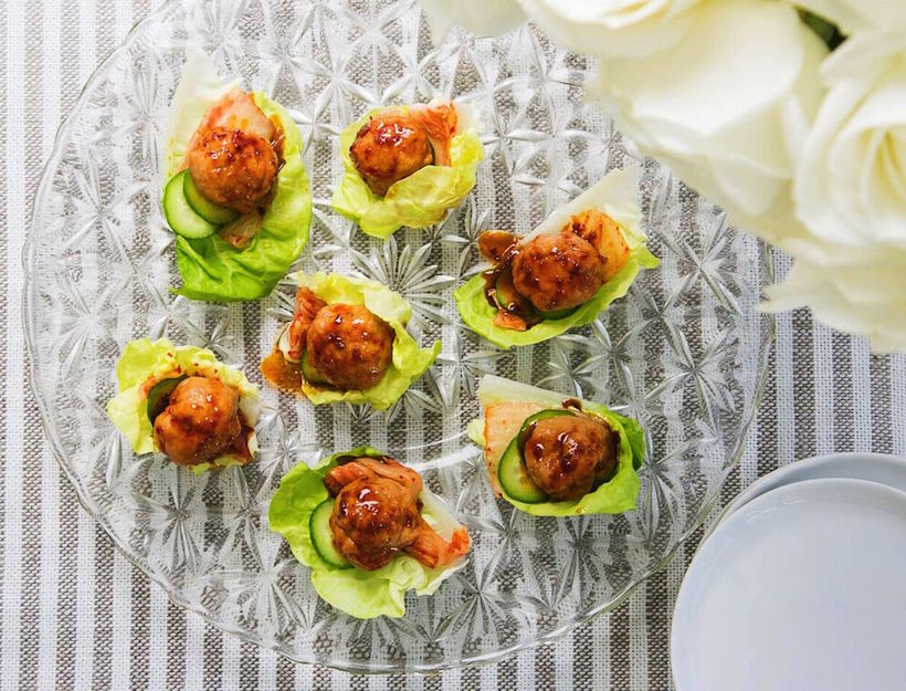Bulgogi Chicken Lettuce Cups