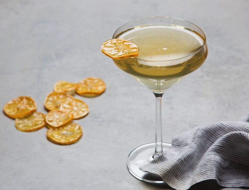 Sparkling Meyer Lemonade with Candied Citrus