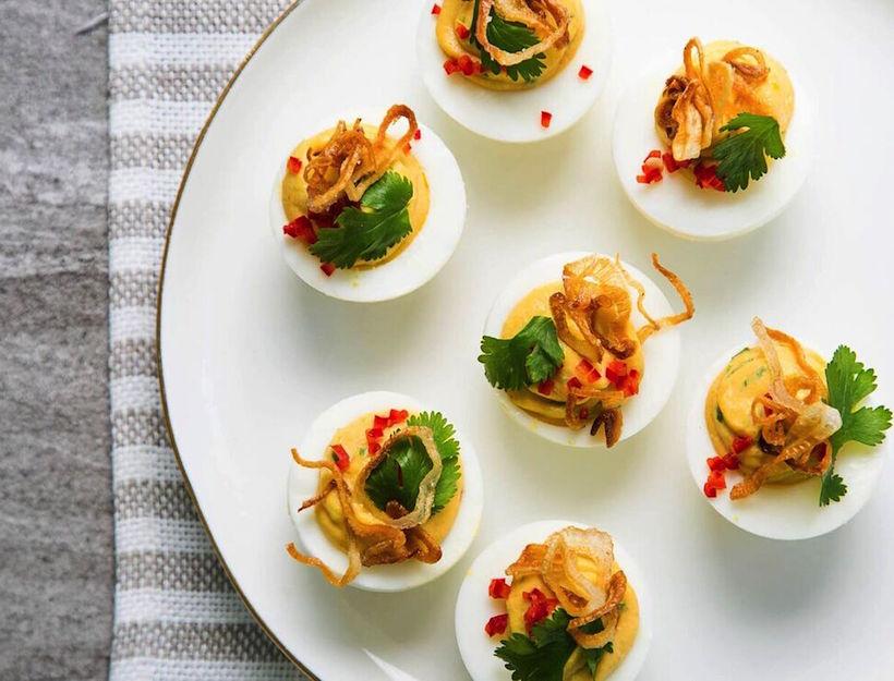 Thai-Style Deviled Eggs