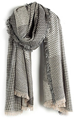 MADEWELL Houndstooth Patchwork Scarf