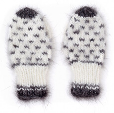 We Wish it Were Our Size: Girl's Mittens