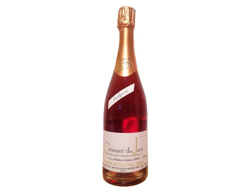 Stéphane Tissot Rosé Indigène Crémant de Jura NV, $30