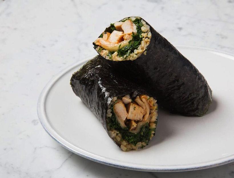 Kimchi & Grilled Chicken Nori Wrap