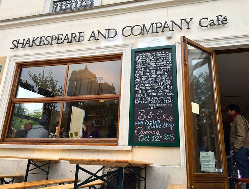 Shakespeare and COmpany Cafe