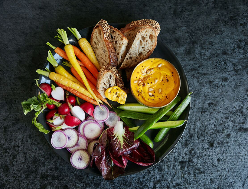Cultured Butternut Squash Dip with Pumpkin Oil