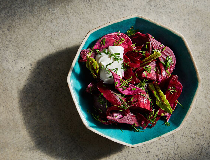 Creamed Beets with Caraway and Onion