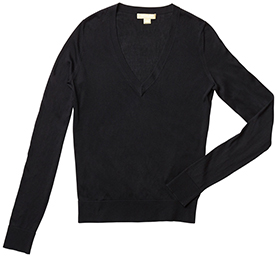 MICHAEL KORS COLLECTION Long Sleeve V-Neck