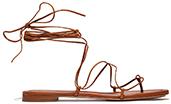MICHAEL KORS COLLECTION Bradshaw Lace Up  Flat Sandal