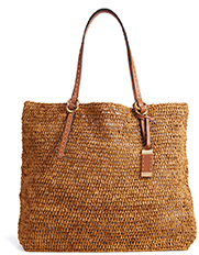 MICHAEL KORS COLLECTION Large NS Tote in Rafia