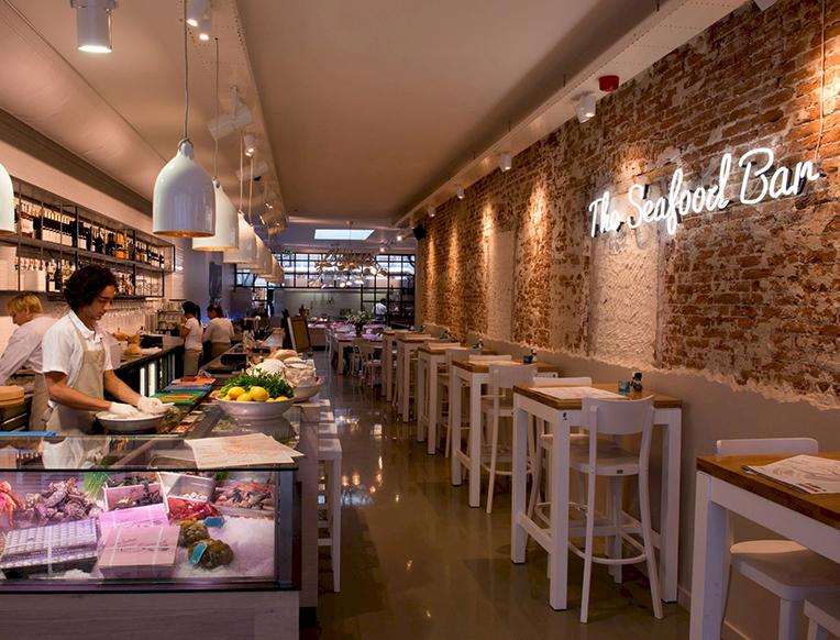 Seafood bar goop for Seafood bar van baerlestraat amsterdam