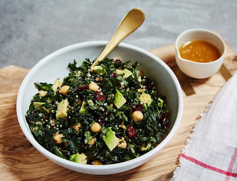 Crunchy Kale Salad with Blood Orange Vinaigrette