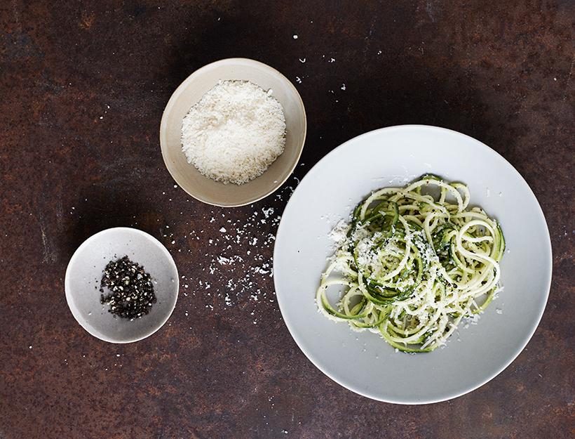 Zucchini Cacio e Pepe