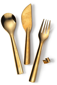 Japanese Brass Flatware Sets
